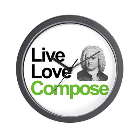 Bach's Live Love Compose Wall Clock