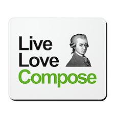 Mozart's Live Love Compose Mousepad