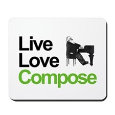 Brahms' Live Love Compose Mousepad