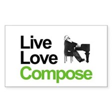 Brahms' Live Love Compose Rectangle Decal
