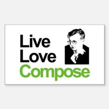 Shosti's Live Love Compose Rectangle Decal
