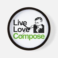 Shosti's Live Love Compose Wall Clock
