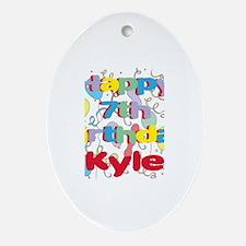 Kyle's 7th Birthday Oval Ornament
