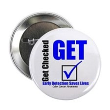 "Colon Cancer Get Checked 2.25"" Button (10 pack)"