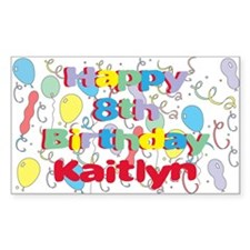 Kaitlyn's 8th Birthday Rectangle Decal