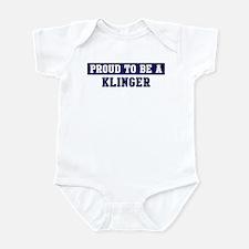 Proud to be Klinger Infant Bodysuit