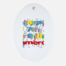 Cameron's 7th Birthday Oval Ornament