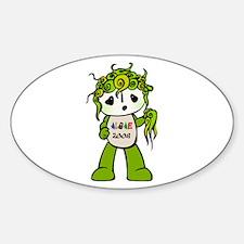Algae Mascot Fuwa 2008 Oval Decal