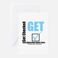 Get Checked Prostate Cancer Greeting Cards (Pk of