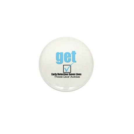Get Checked Prostate Cancer Mini Button (10 pack)