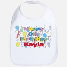 Kayla's 8th Birthday Bib
