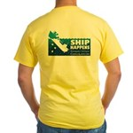 """Ship Happens"" Yellow T-Shirt - Back"