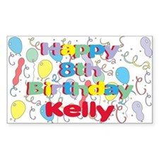 Kelly's 8th Birthday Rectangle Decal