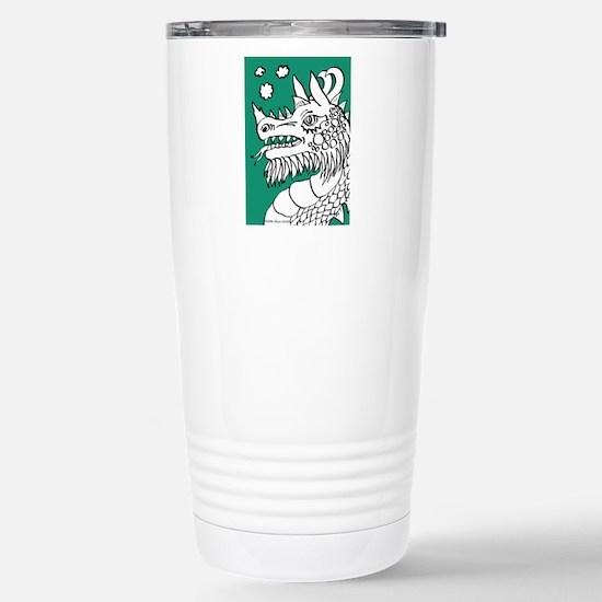 Green Puffing Dragon Stainless Steel Travel Mug