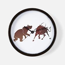 Bull and Bear Wall Clock
