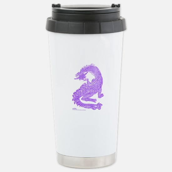 Hi Mum! Purple Dragons Stainless Steel Travel Mug