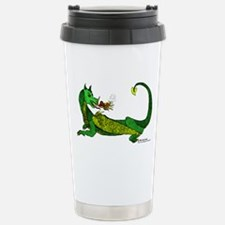 Flamin' Green Dragon Stainless Steel Travel Mug