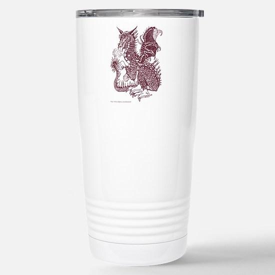Laughing Sepia Dragon Stainless Steel Travel Mug