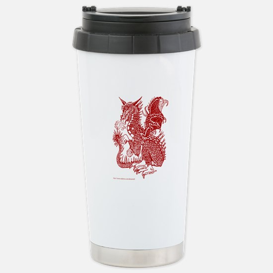 Laughing Rust Dragon Stainless Steel Travel Mug