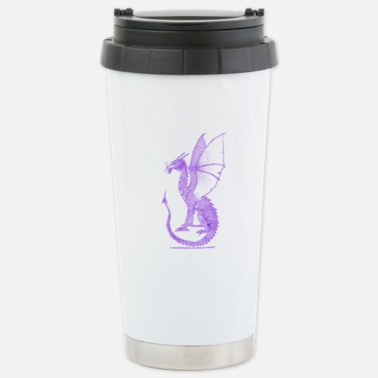 Purple Watcher Dragon Stainless Steel Travel Mug