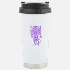 Purple Fighting Dragons Stainless Steel Travel Mug