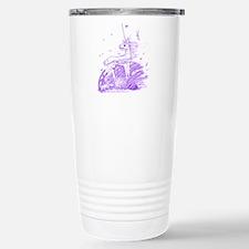Unicorn in Wind (white/purple Travel Mug