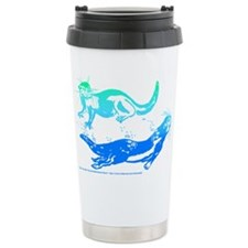 Otters Aquamarine Travel Mug