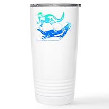 Otters Aquamarine Travel Coffee Mug