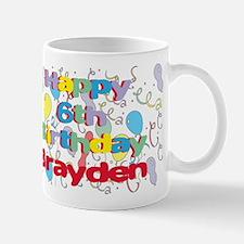 Brayden's 6th Birthday Mug