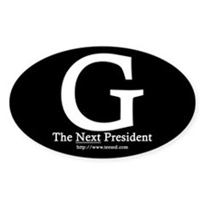 Guiliani 08 Oval Decal