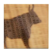 Shadow of the Bull Tile Coaster