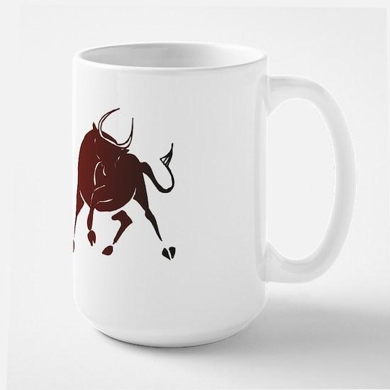 Bear vs Bull Large Mug