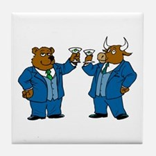 Toasting Our Deal Tile Coaster