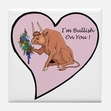 Flowers and Bull Tile Coaster
