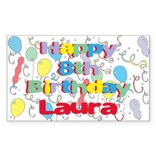Laura's 8th Birthday Rectangle Decal