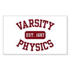 Varsity Physics Rectangle Decal