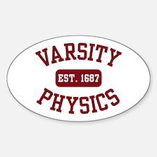Varsity Physics Oval Decal