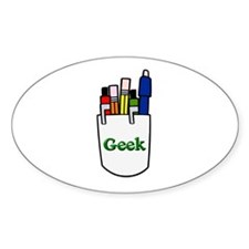 Pocket Protector Geek Oval Decal