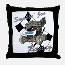 Smokin' Joe Racing Throw Pillow