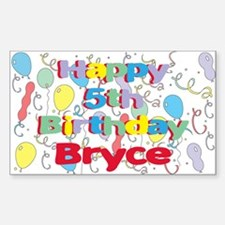 Bryce's 5th Birthday Rectangle Decal