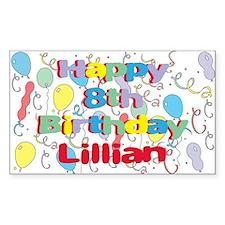 Lillian's 8th Birthday Rectangle Decal