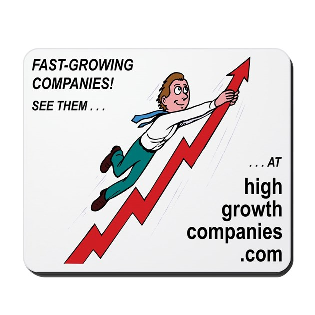 Fast-Growing Companies Mousepad by bearbullbasics