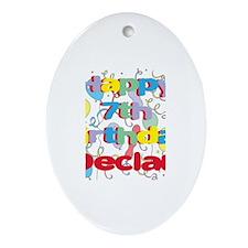 Declan's 7th Birthday Oval Ornament