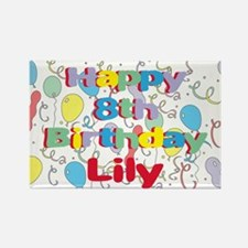 Lily's 8th Birthday Rectangle Magnet