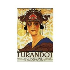 Turandot Poster Rectangle Magnet