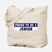 Proud to be Jenson Tote Bag