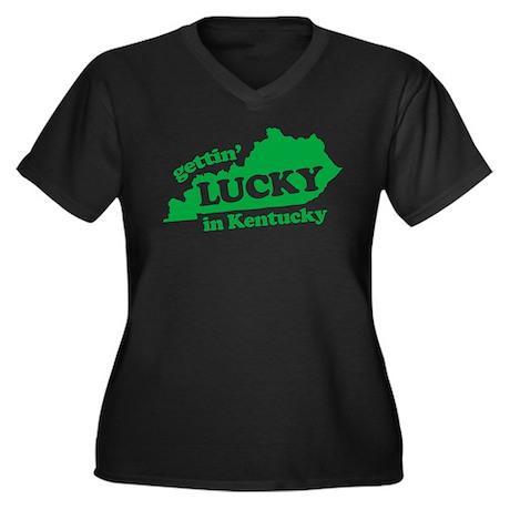 gettin lucky in kentucky Women's Plus Size V-Neck