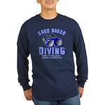 Coed Naked Diving Long Sleeve Dark T-Shirt