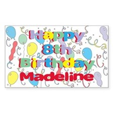 Madeline's 8th Birthday Rectangle Decal