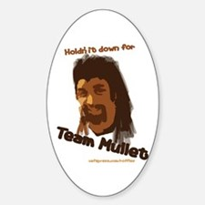 Team Mullet Oval Decal